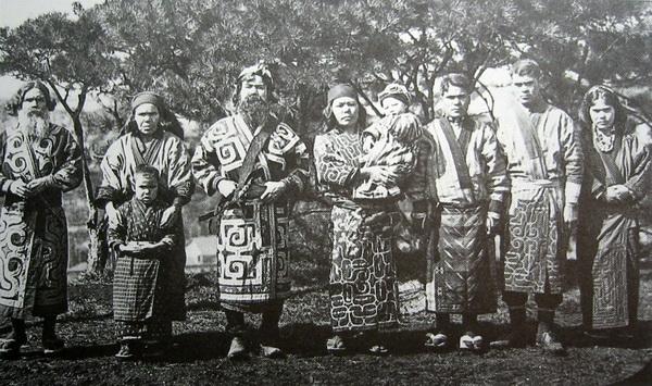 Айны, фотография 1904 года