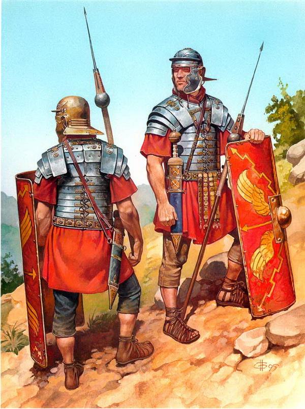 Римские солдаты в боевом облачении