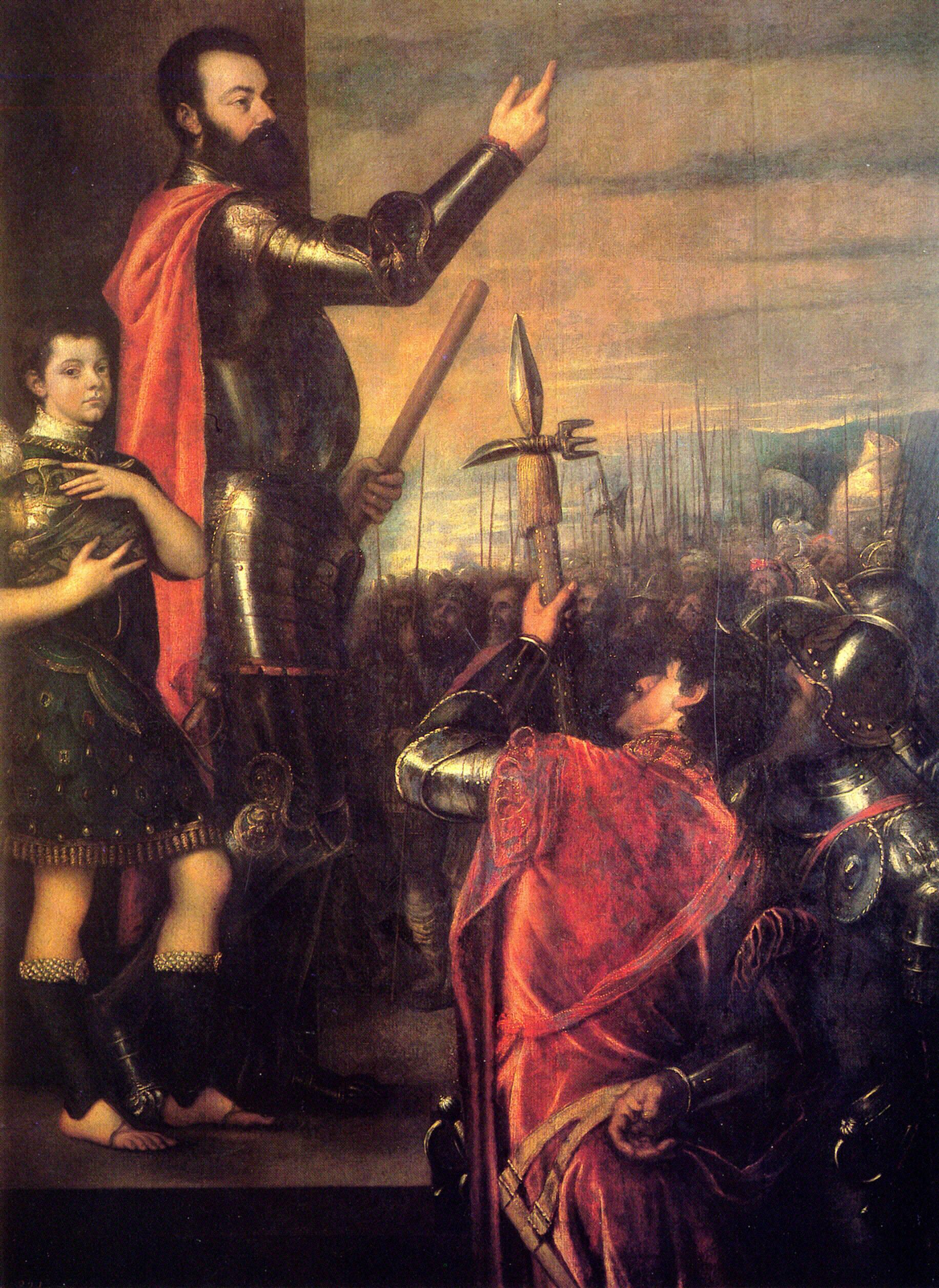 Обращение Альфонсо д'Авалос к солдатам