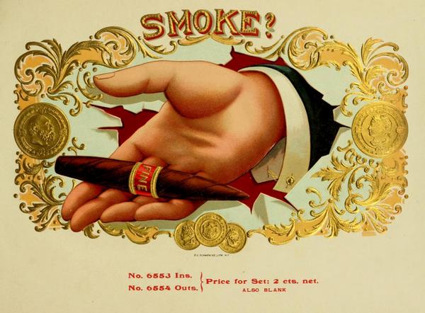 Старинные сигарные коробки
