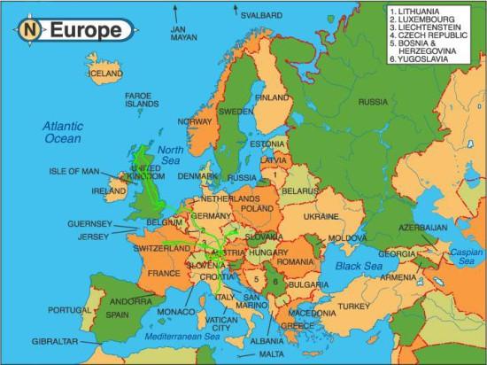 Как менялась карта Европы
